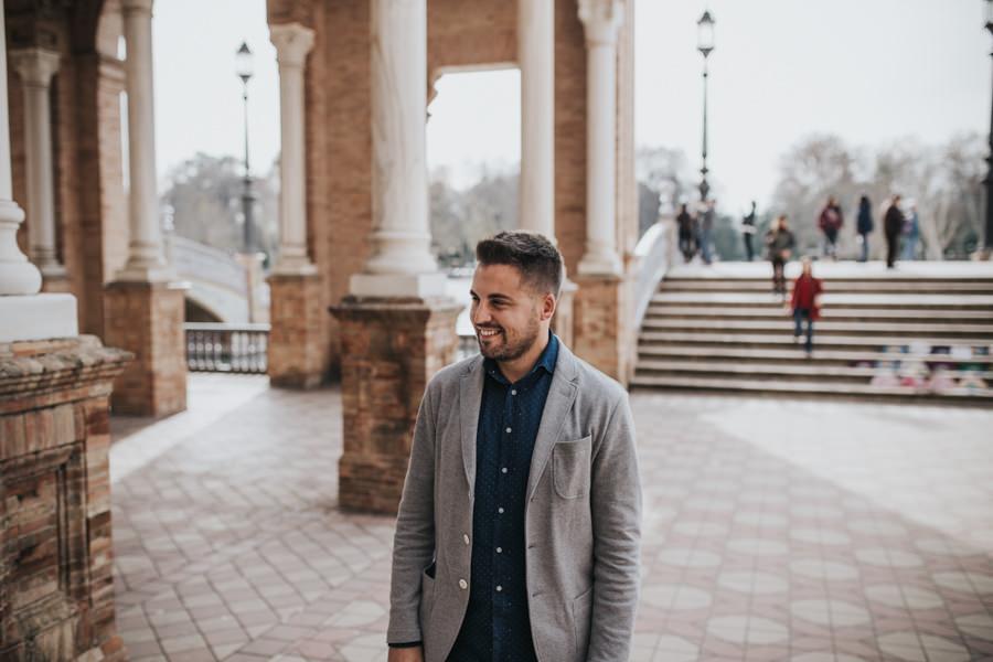Sesión de fotos en pareja en Sevilla