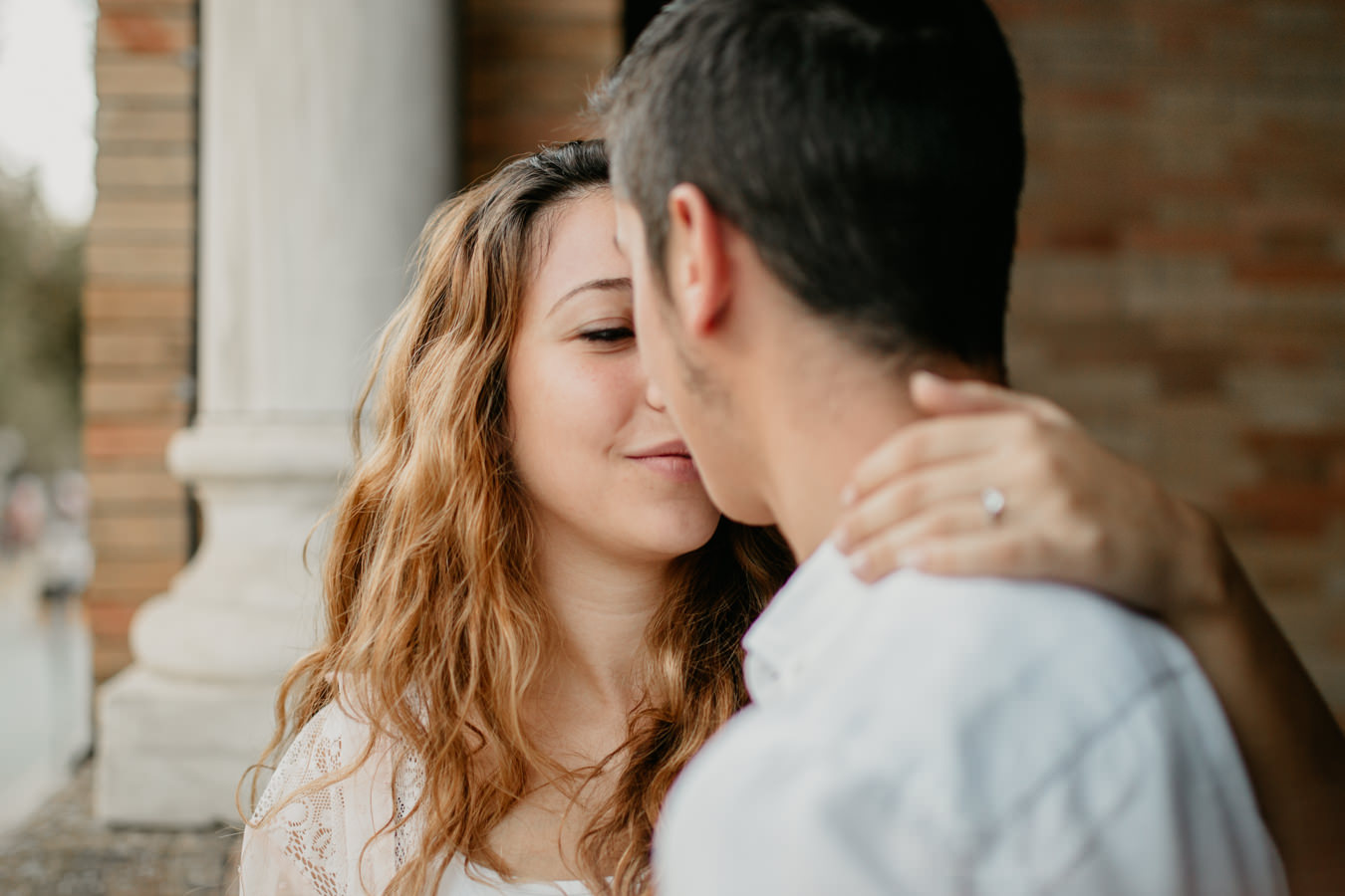 romantica pedida de mano en plaza de espana