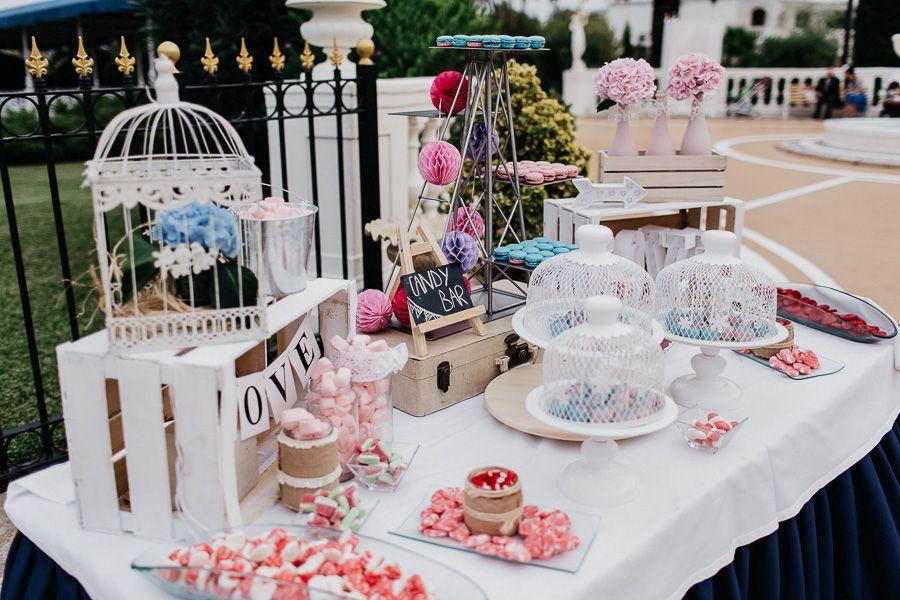 Mesa dulce de boda en Salón Leyva Linares